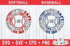 Baseball SVG   Baseball / Softball Round Subway Art Product Image 1
