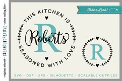 Kitchen Seasoned with Love | Personalize SVG monogram frame Product Image 1