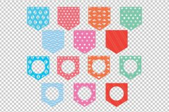 Patterned Pockets Monogram SVG,DXF,PDF,AI,EPS Product Image 2