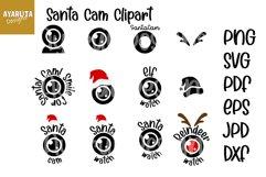 Santa Cam Ornament, Elf Cam Christmas ball SVG PNG Cut file Product Image 2