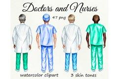 Nurses clipart, Doctor clipart, Medical clipart Custom Nurse Product Image 1