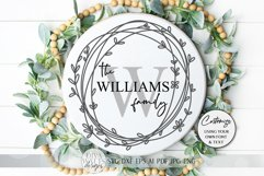 Monogram Wreath SVG | Farmhouse Sign SVG | dxf and more Product Image 2