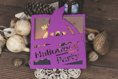 Halloween Party Witchs Hat Invitation cutting file Product Image 3