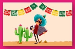 Papercut blocks font a mexican party banner Product Image 5