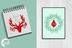 Reindeer clipart, invitation embellishments, graphics, illustrations AMB-1117 Product Image 4