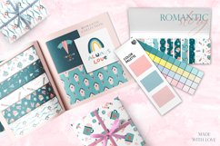 Romantic Valentine's Day. Love patterns, stickers and cards. Product Image 2