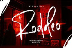 Roddeo | A Stylish Brush Font Product Image 1
