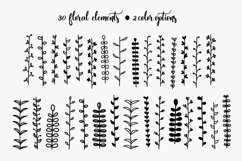 Hand Drawn Floral Elements & Backgrounds Product Image 2