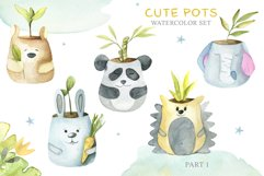 Cute Pots Watercolor Set Product Image 2