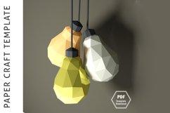 Lowpoly 3D Bulb/Papercraft/3D Papercraft/Papercraft Pdf Product Image 3