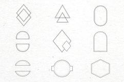 Floral logo elements-logo frames-botany-vector SVG PNG Product Image 2