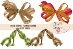 Hessian Double Bows Scrapbooking Elements Product Image 2