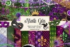 Mardi Gras Digital Scrapbook Kit Product Image 1