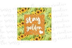 Sublimation Design Download | Stay Golden PNG File Product Image 1