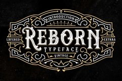 Reborn Layered Typeface + Extras Product Image 1