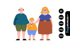 Happy Little Family Clipart Product Image 1