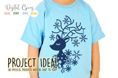 Christmas Reindeer paper cut SVG DXF EPS files Product Image 5