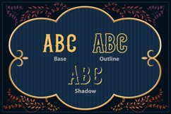 Scarytale - vintage multi-layered font Product Image 4