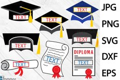 Split Graduation - Clip art / Cutting Files 216c Product Image 1