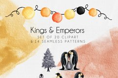 Christmas Penguin Sublimation Clipart and Seamless Patterns Product Image 4
