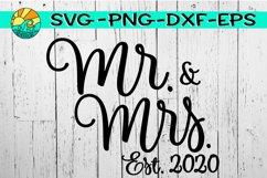 Mr. & Mrs. - Est. 2020 - SVG PNG EPS DXF Product Image 1