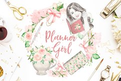 Watercolor Planner Girl design Product Image 3