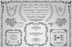 Hand Sketched Vintage Decorative Doodle Design Elements. Product Image 3