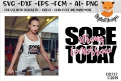Sore Today Strong Tomorrow Fitness SVG Product Image 1