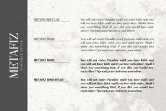 Metafiz - An elegant font Product Image 5