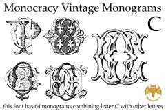 Monocracy Vintage Monograms Pack ABC Product Image 4