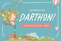 Darthon! - Fun Ballpoint Typeface Product Image 1