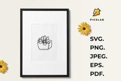 Flower pot - Flower plant - Flower clip art - House plant Product Image 2