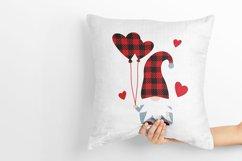 Gnome Valentine Buffalo plaid, love hearts, balloons svg. Product Image 4