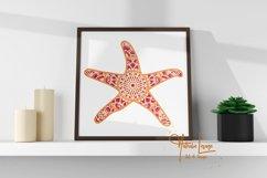 Layered Mandala Starfish 3D SVG Beach Design And Sublimation Product Image 2