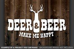 Deer & Beer Make Me Happy - Deer HUNTING SVG Files - 846 Product Image 1