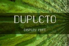 DUPLETO Display font Product Image 1