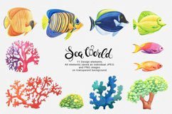 Sea World watercolor collection Product Image 5
