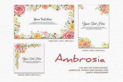 Ambrosia - Digital Watercolor Floral Flower Style Clipart Product Image 4