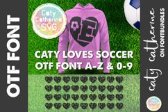 Soccer Football Love Heart Initial Font A-Z & 0-9 OTF Product Image 1