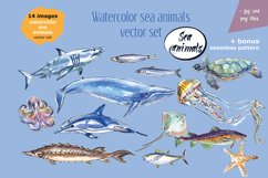 Watercolor sea animals & bonus! Product Image 3