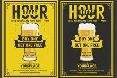 Beer Happy Hour Flyer Product Image 1