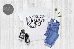 Bundle 11 T-Shirt Toddler Mockup Bella Canvas 3001T Flat Lay Product Image 3