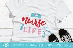 Nursing Life Svg File  Medical Worker Heroes Shirt Product Image 1
