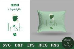 Irish svg. Beer mug, shamrock, pipe. St.Patricks day svg Product Image 1