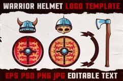 Warrior Viking Helmet Logo Template Product Image 3