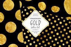 Gold foil Polka dot Black Seamless Pattern Product Image 2