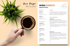 Teacher Resume CV Template for Word & Pages Nora Roberts Product Image 2