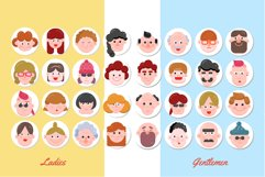 32 Character Faces - Flat Art Product Image 3