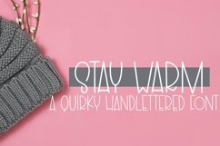 Web Font Stay Warm - A Quirky Hand-Lettered Font Product Image 1