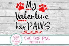 My Valentine has Paws SVG, Valentine SVG, Paw SVG, Dog, Cat Product Image 2